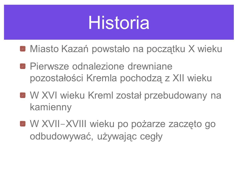 Historia Miasto Kazań powstało na początku X wieku