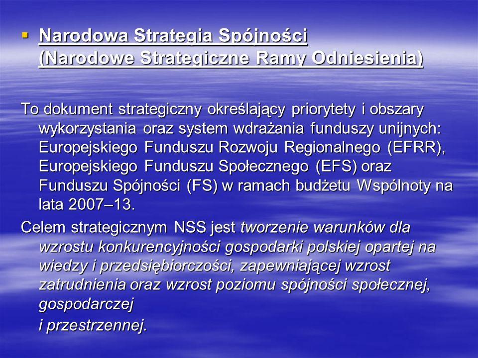 Narodowa Strategia Spójności (Narodowe Strategiczne Ramy Odniesienia)