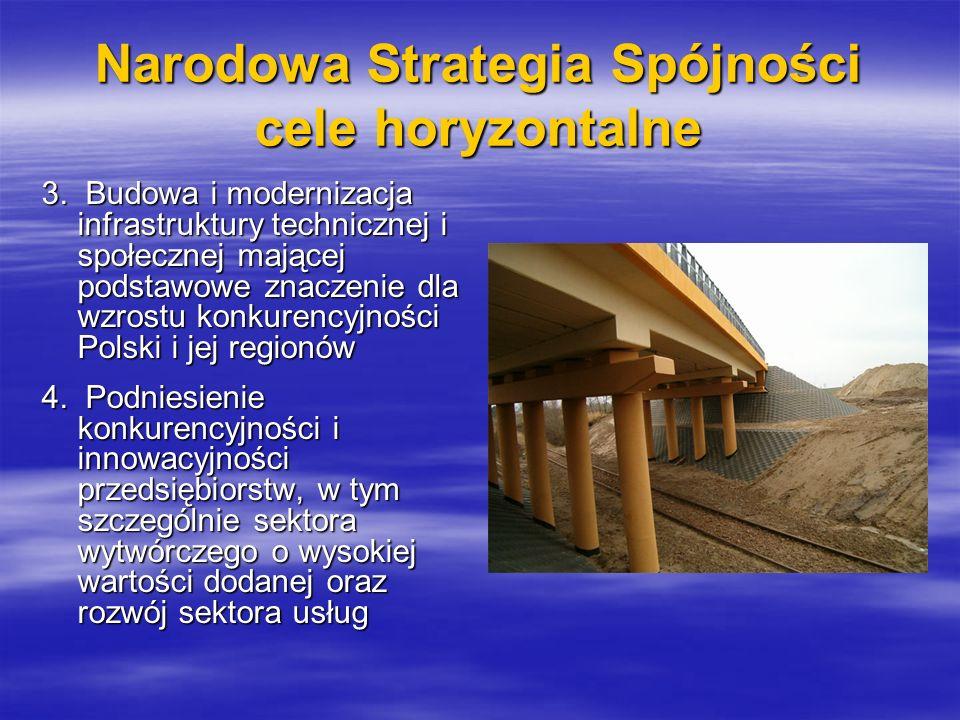 Narodowa Strategia Spójności cele horyzontalne