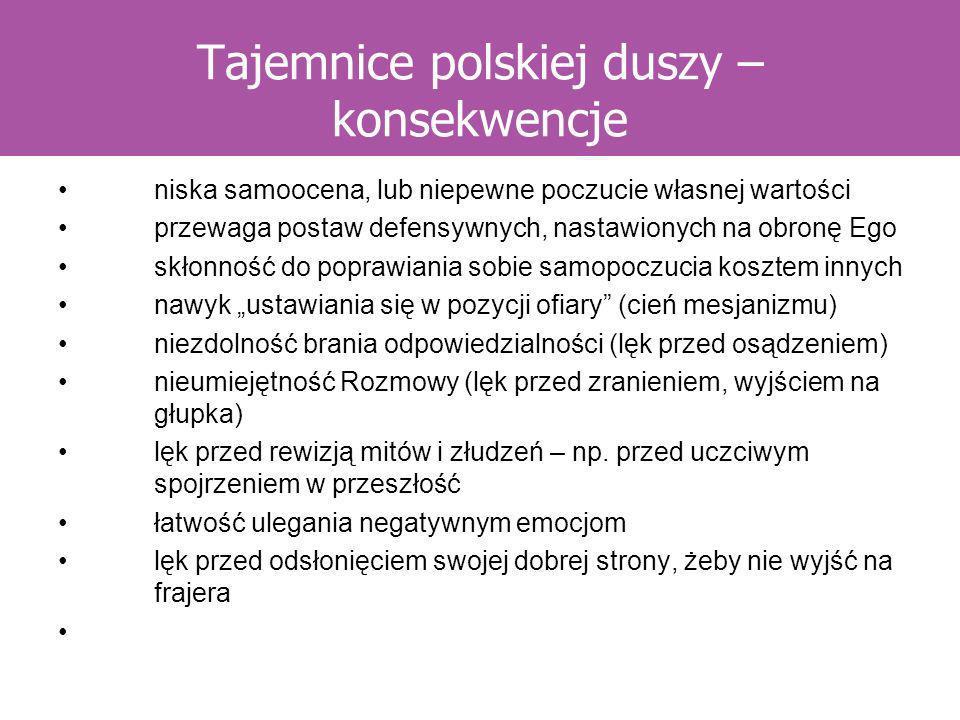 Tajemnice polskiej duszy – konsekwencje