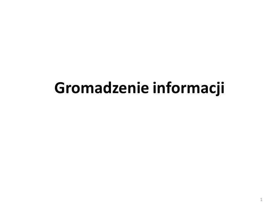 Gromadzenie informacji