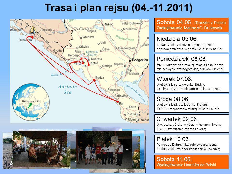 Trasa i plan rejsu (04.-11.2011) Sobota 04.06. (Transfer z Polski)