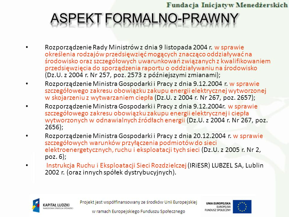 ASPEKT FORMALNO-PRAWNY