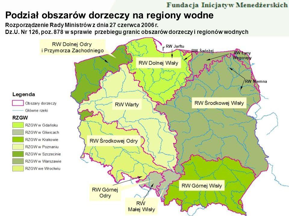 Podział obszarów dorzeczy na regiony wodne