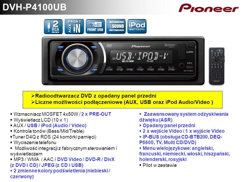 DVH-P4100UB Radioodtwarzacz DVD z opadany panel przedni