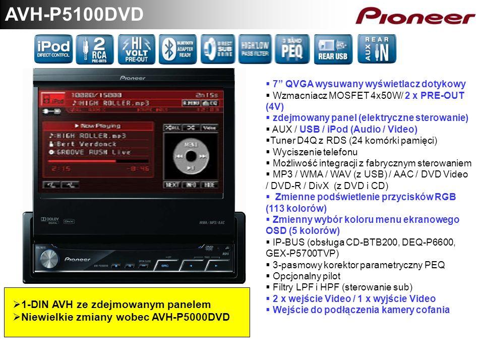 AVH-P5100DVD 1-DIN AVH ze zdejmowanym panelem