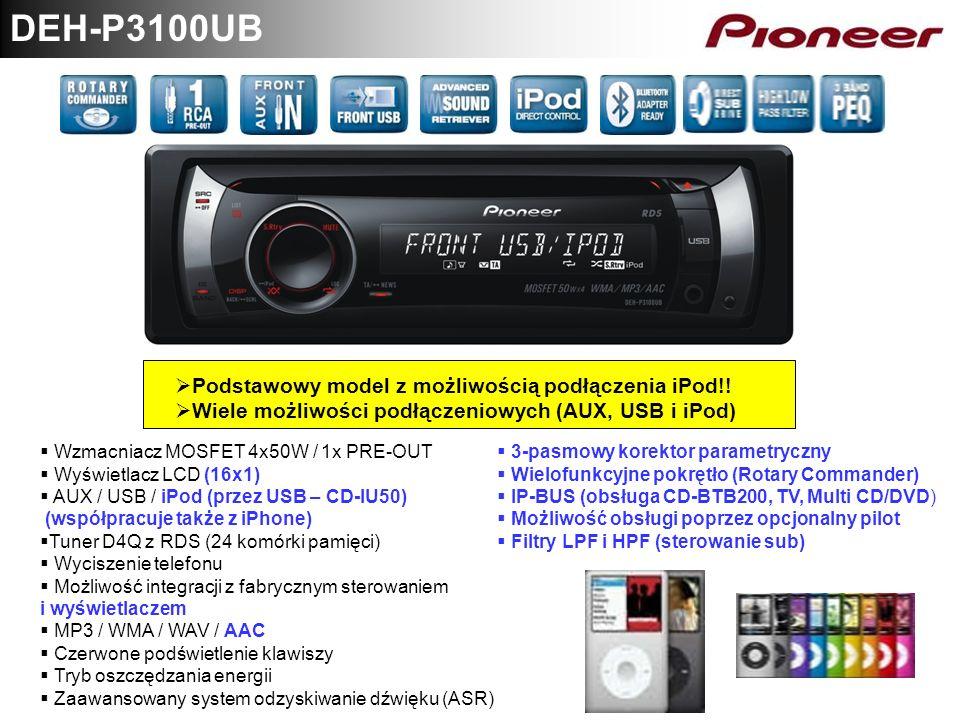 DEH-P3100UB Podstawowy model z możliwością podłączenia iPod!!