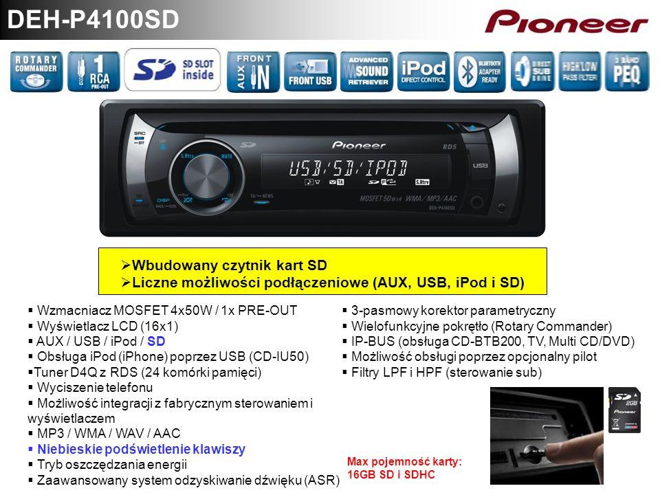 DEH-P4100SD Wbudowany czytnik kart SD