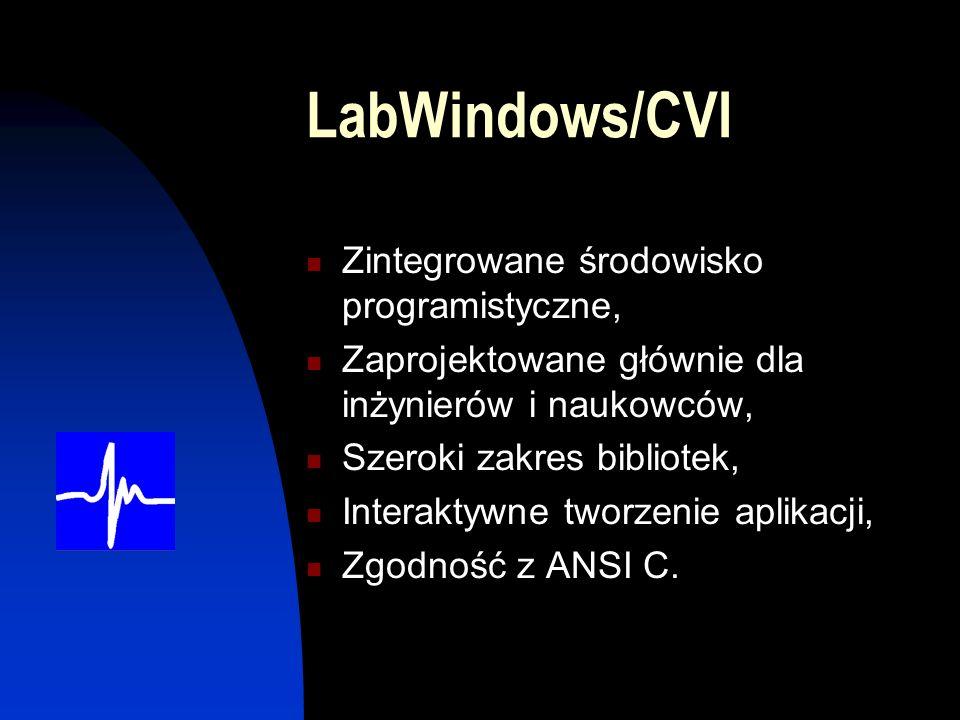 LabWindows/CVI Zintegrowane środowisko programistyczne,