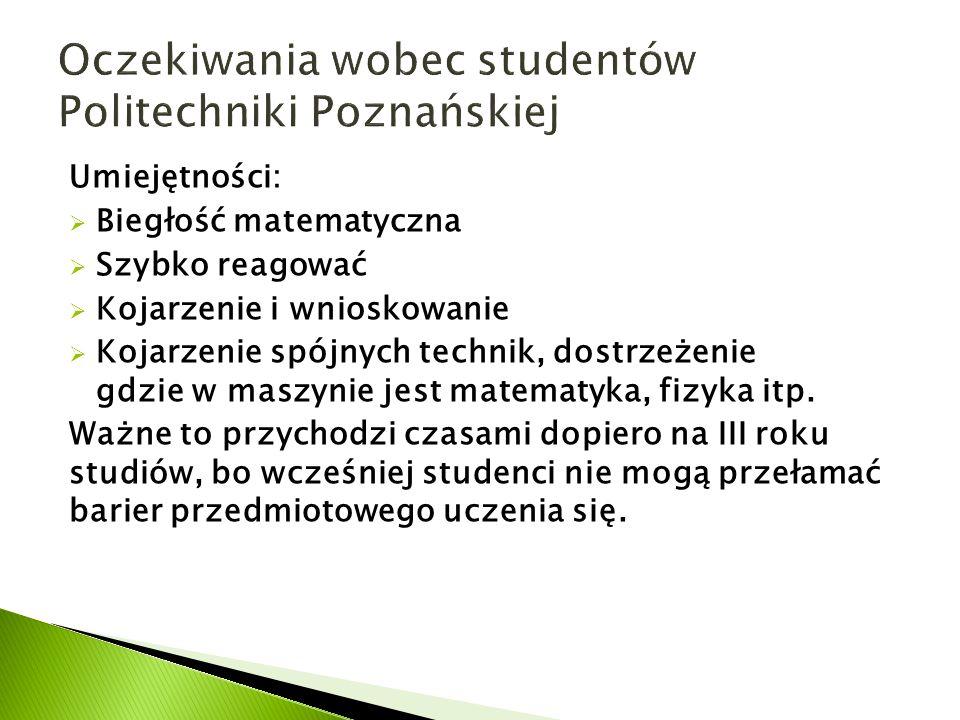 Oczekiwania wobec studentów Politechniki Poznańskiej