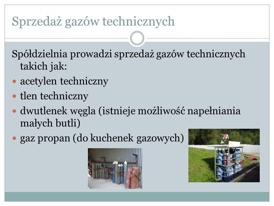 Sprzedaż gazów technicznych