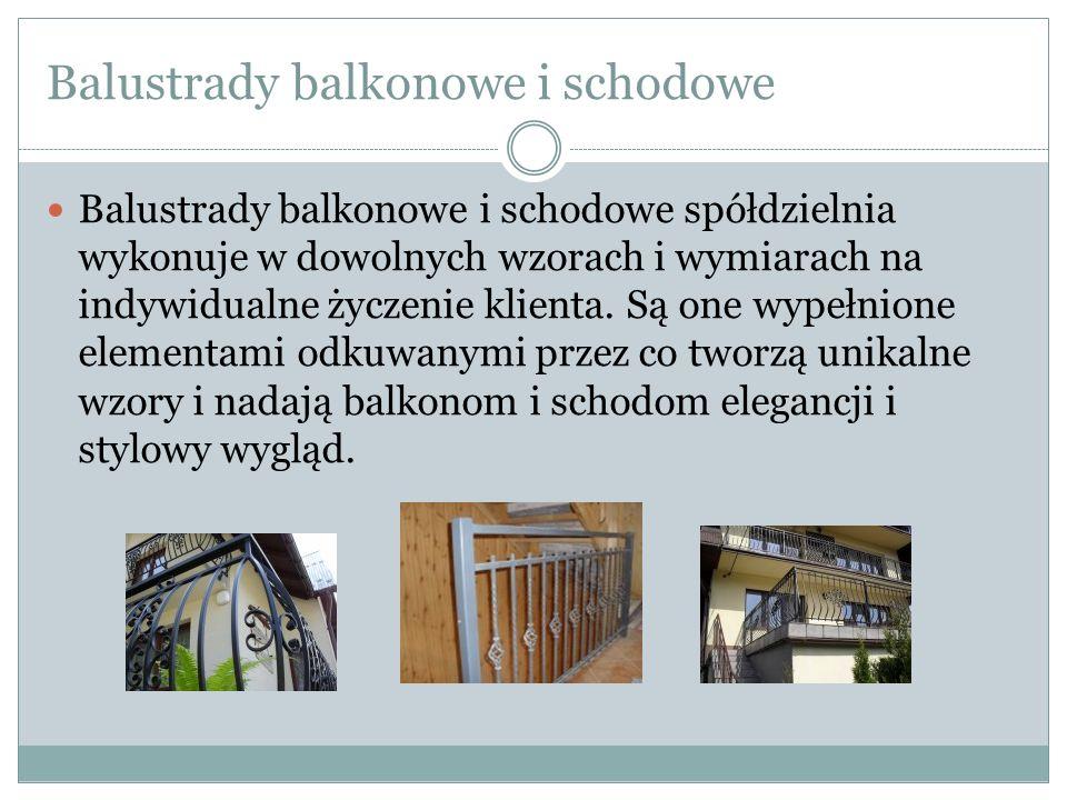 Balustrady balkonowe i schodowe