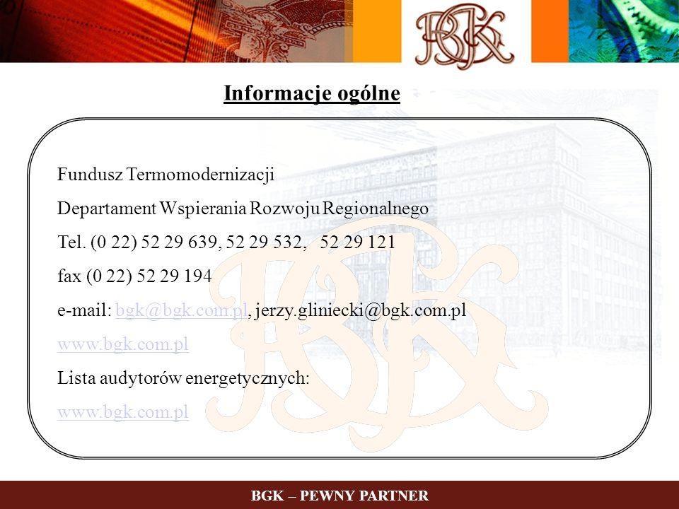 Informacje ogólne Fundusz Termomodernizacji