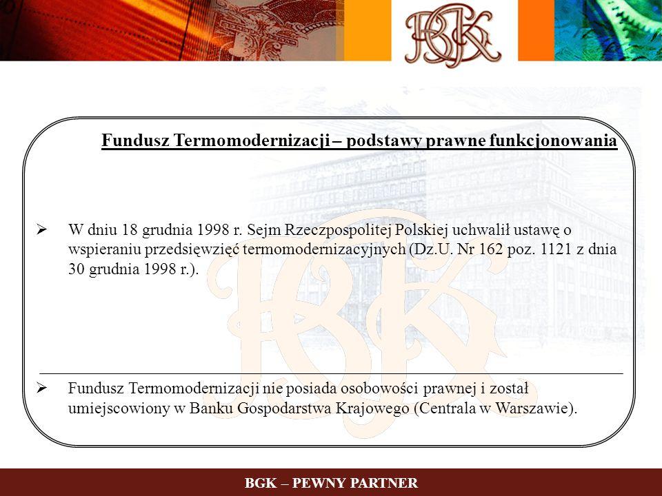 Fundusz Termomodernizacji – podstawy prawne funkcjonowania