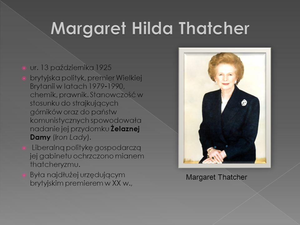 Margaret Thatcher ur. 13 października 1925