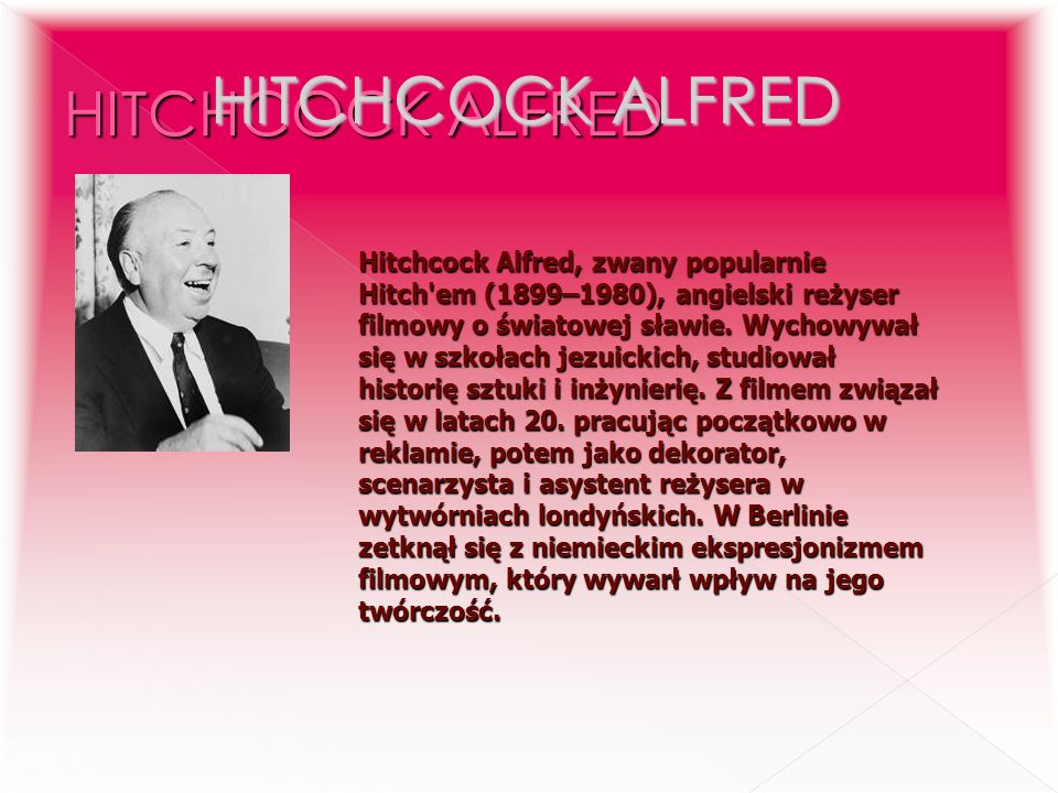 HITCHCOCK ALFRED HITCHCOCK ALFRED