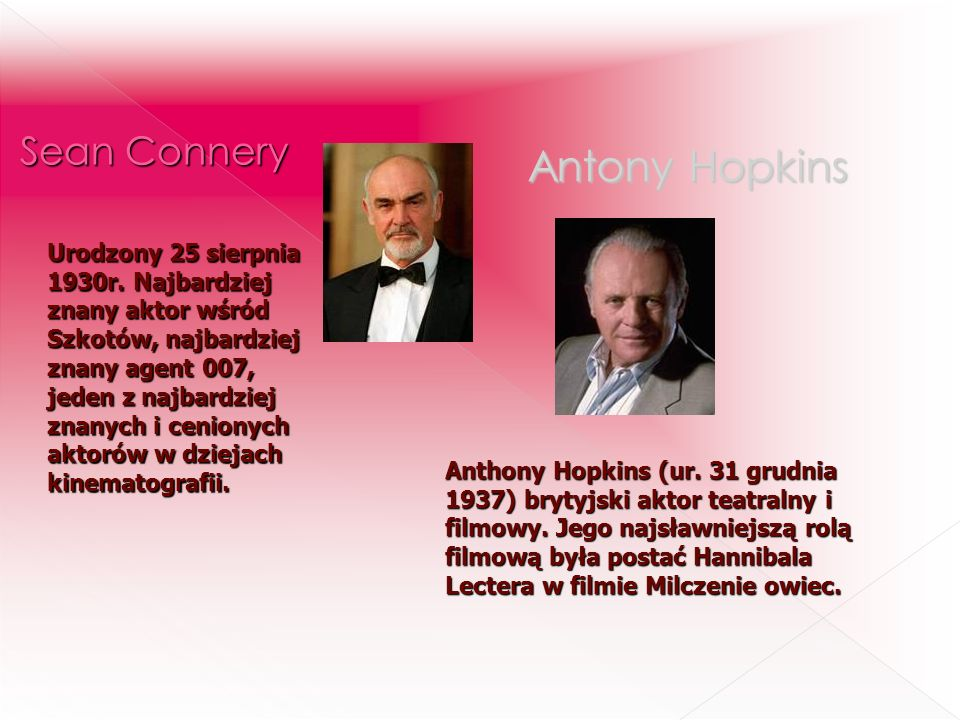 Antony Hopkins Sean Connery