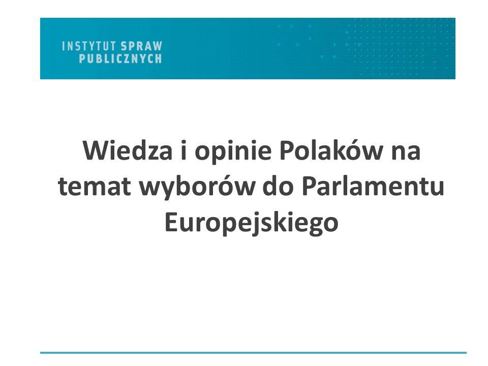 Wiedza i opinie Polaków na temat wyborów do Parlamentu Europejskiego
