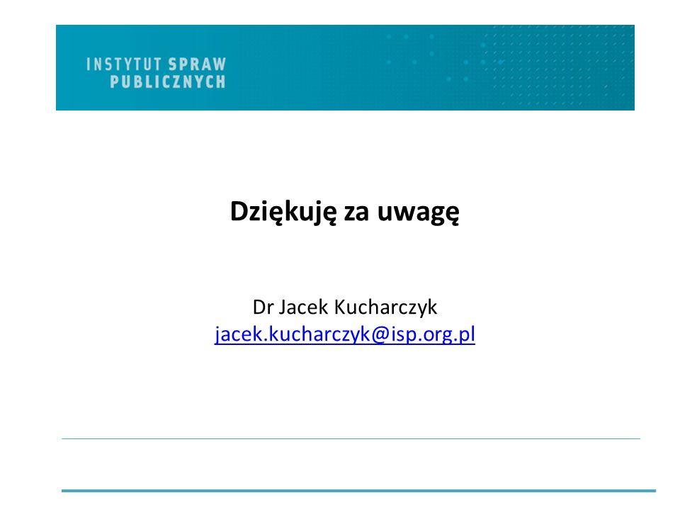 Dziękuję za uwagę Dr Jacek Kucharczyk jacek.kucharczyk@isp.org.pl