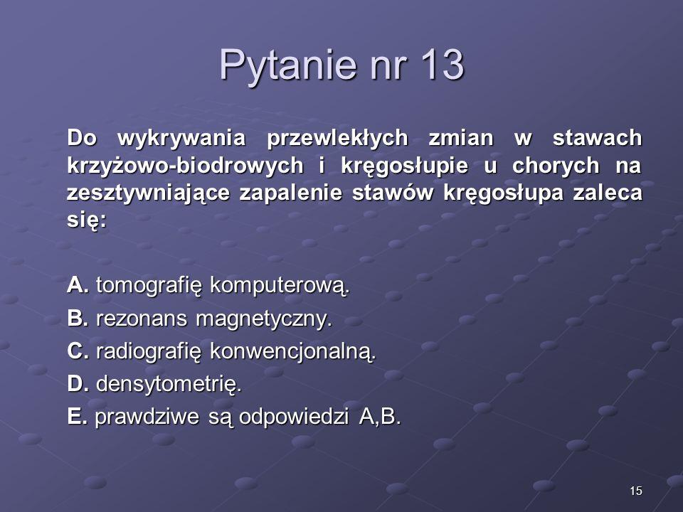 Kariera lekarza Lek. Marcin Żytkiewicz. Pytanie nr 13.