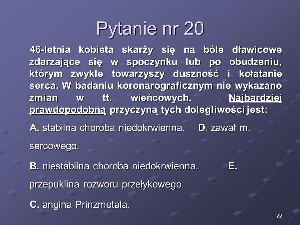 Kariera lekarza Lek. Marcin Żytkiewicz. Pytanie nr 20.