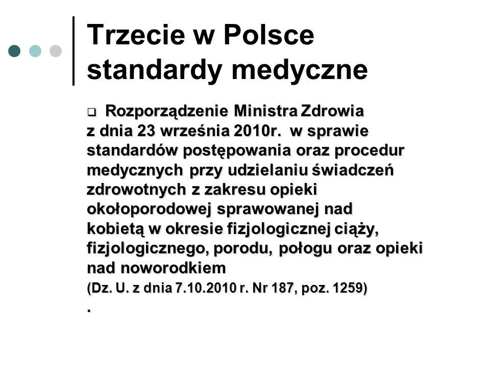 Trzecie w Polsce standardy medyczne