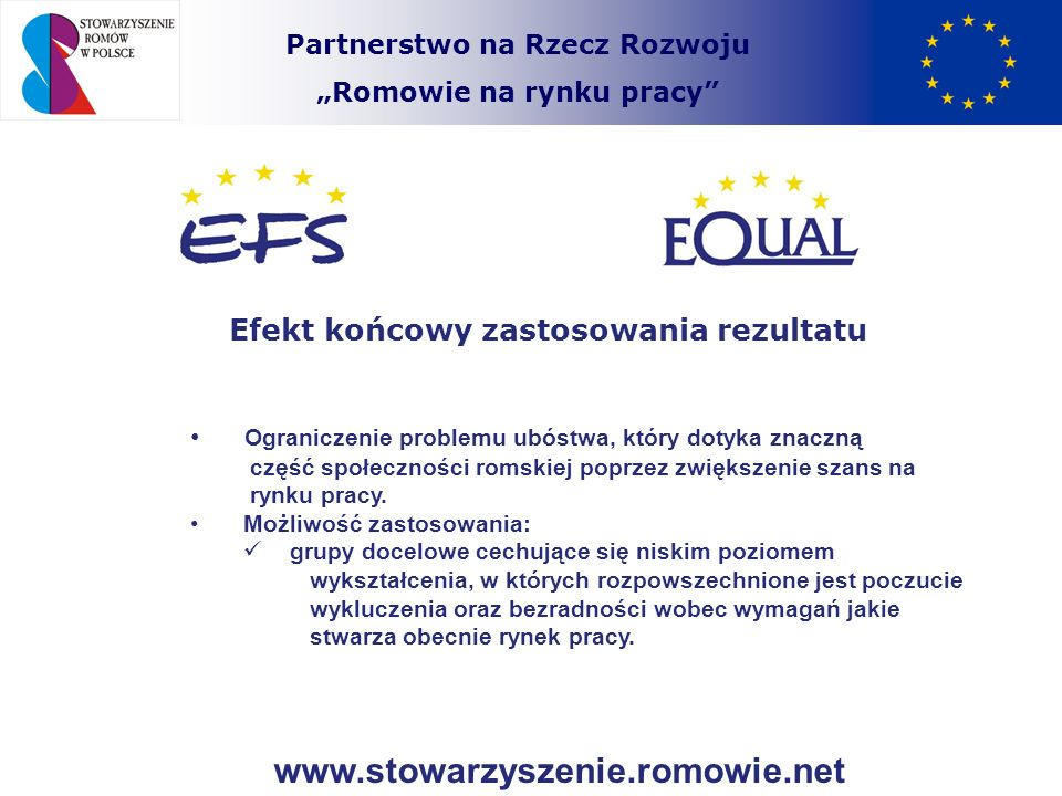 www.stowarzyszenie.romowie.net Efekt końcowy zastosowania rezultatu