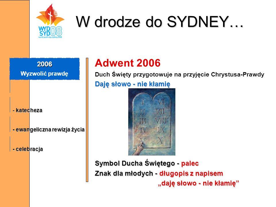 W drodze do SYDNEY… Adwent 2006 2006 Daję słowo - nie kłamię