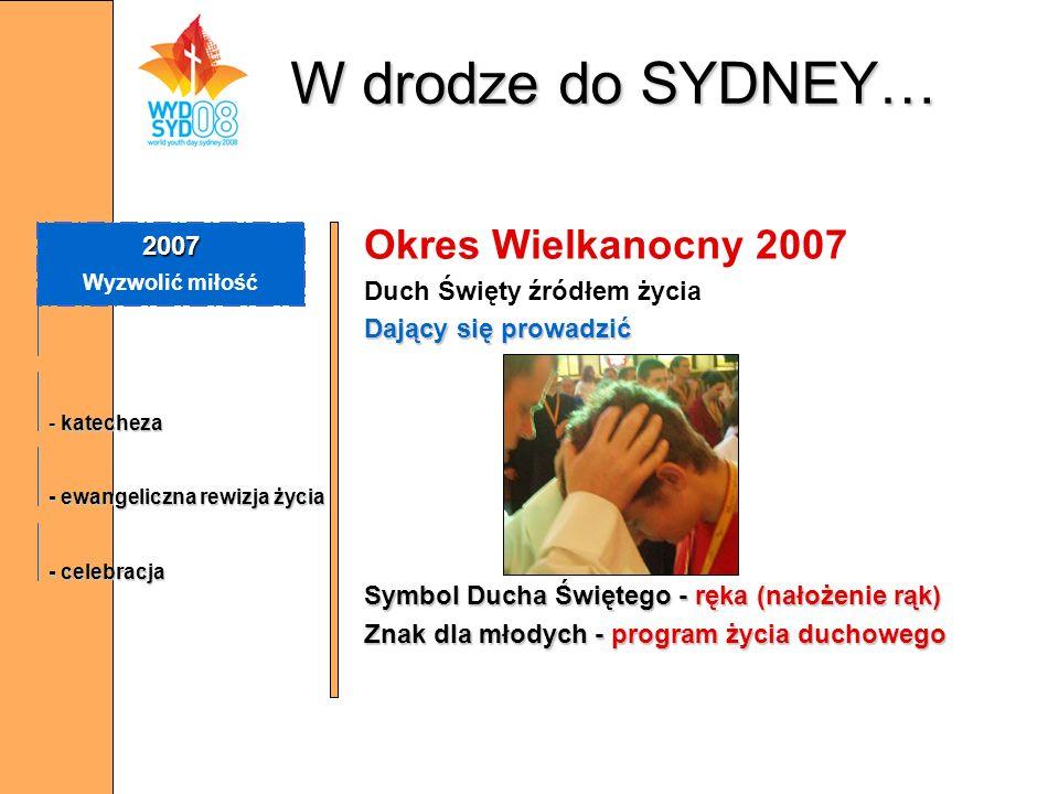 W drodze do SYDNEY… Okres Wielkanocny 2007 2007