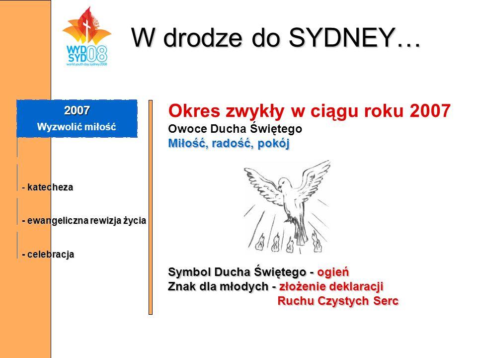 W drodze do SYDNEY… Okres zwykły w ciągu roku 2007 2007