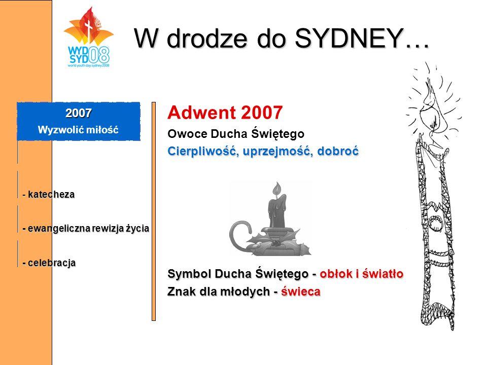 W drodze do SYDNEY… Adwent 2007 2007 Owoce Ducha Świętego
