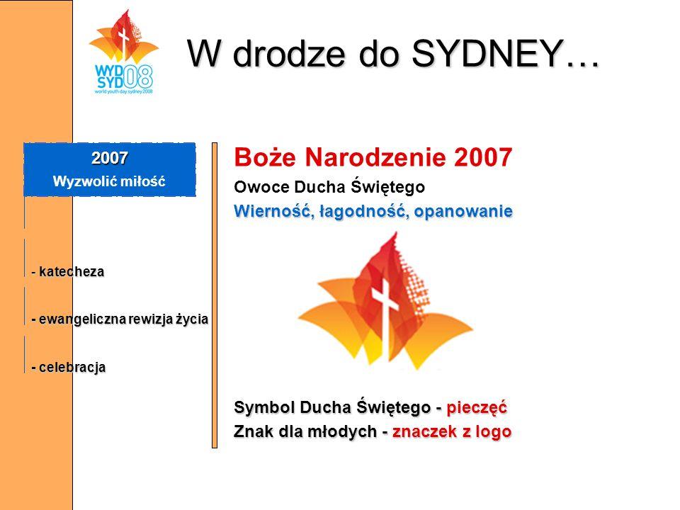 W drodze do SYDNEY… Boże Narodzenie 2007 2007 Owoce Ducha Świętego