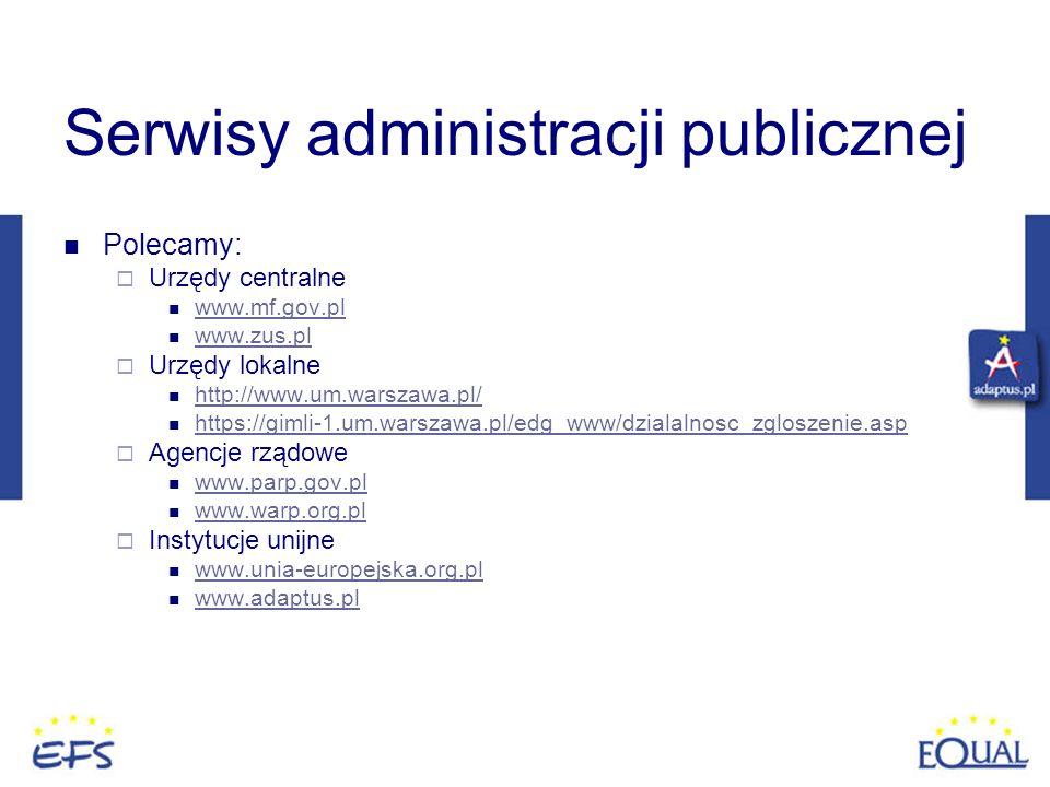 Serwisy administracji publicznej