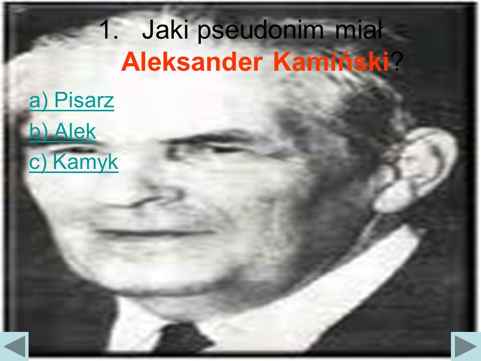 Jaki pseudonim miał Aleksander Kamiński