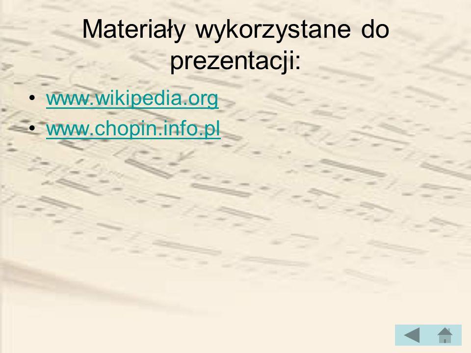 Materiały wykorzystane do prezentacji: