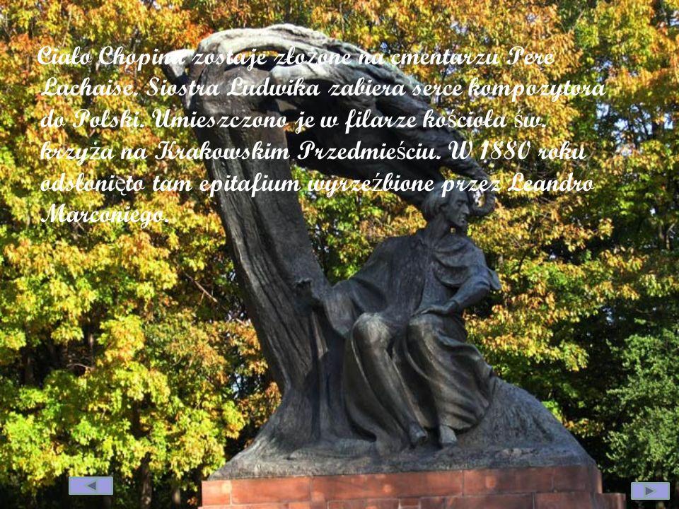 Ciało Chopina zostaje złożone na cmentarzu Pere Lachaise