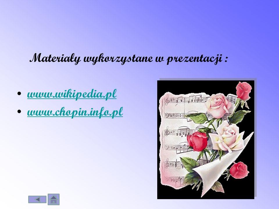 Materiały wykorzystane w prezentacji :