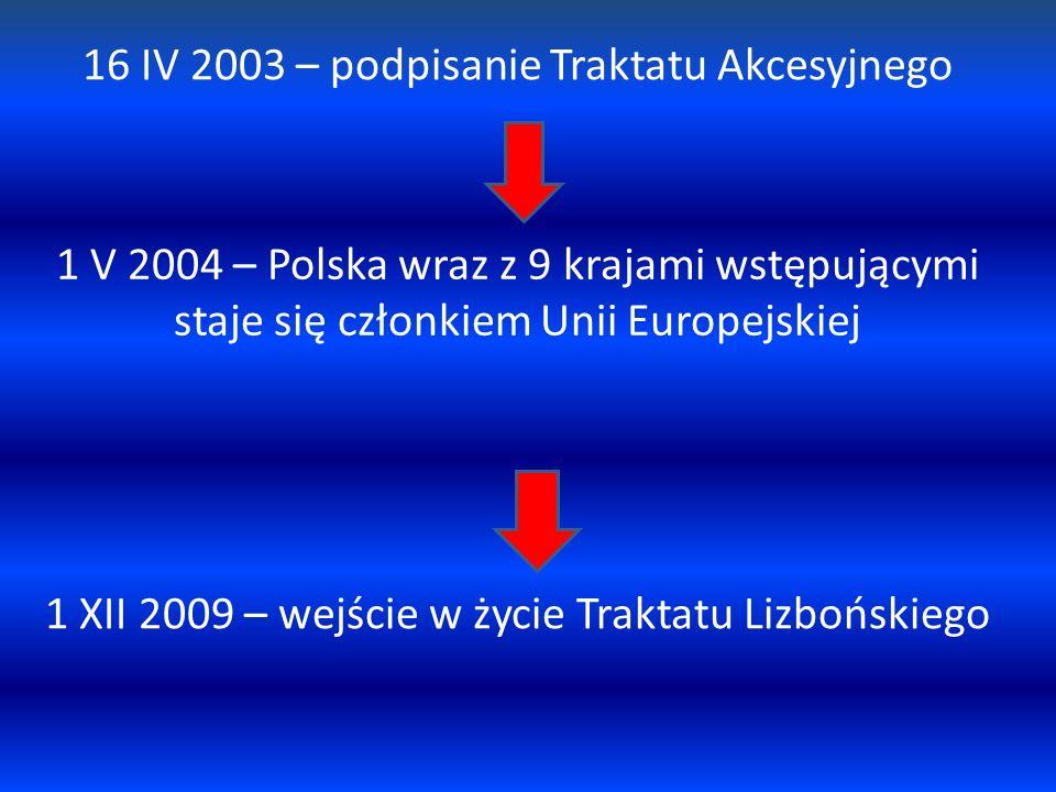 16 IV 2003 – podpisanie Traktatu Akcesyjnego