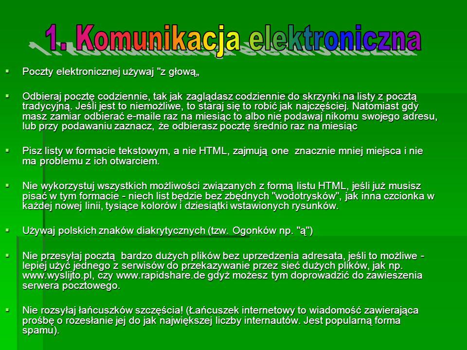 1. Komunikacja elektroniczna