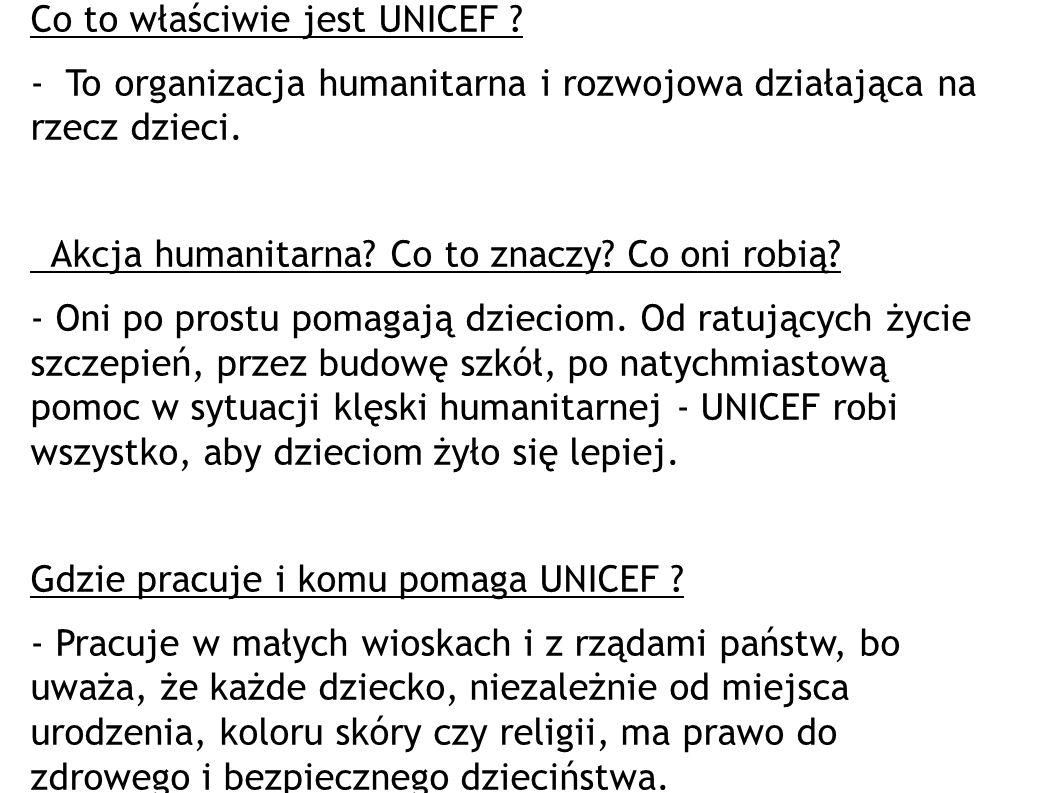 Co to właściwie jest UNICEF