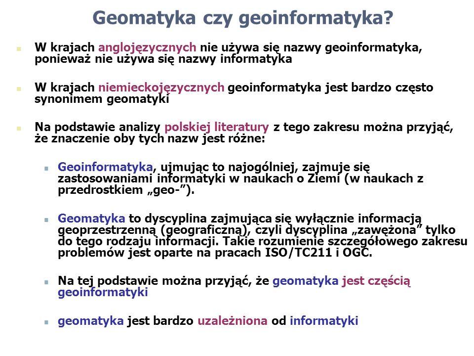 Geomatyka czy geoinformatyka