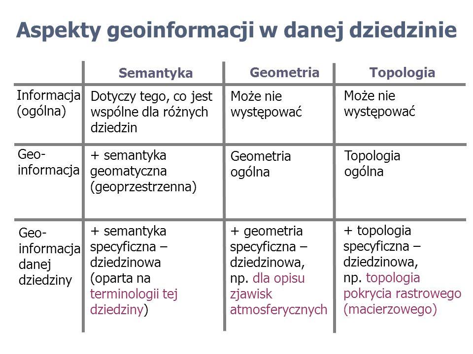 Aspekty geoinformacji w danej dziedzinie