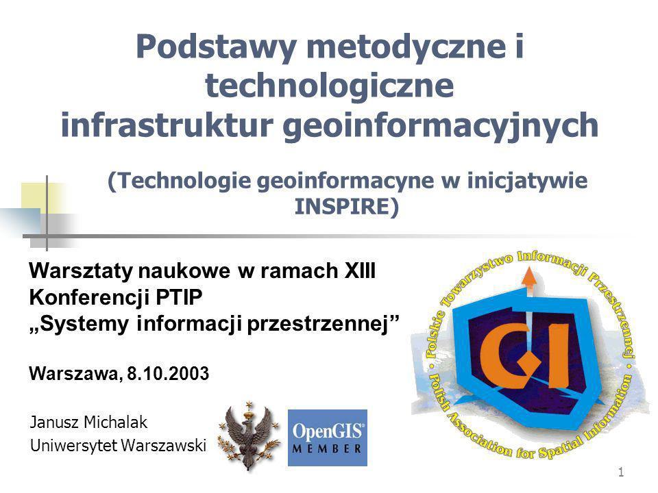 Podstawy metodyczne i technologiczne infrastruktur geoinformacyjnych