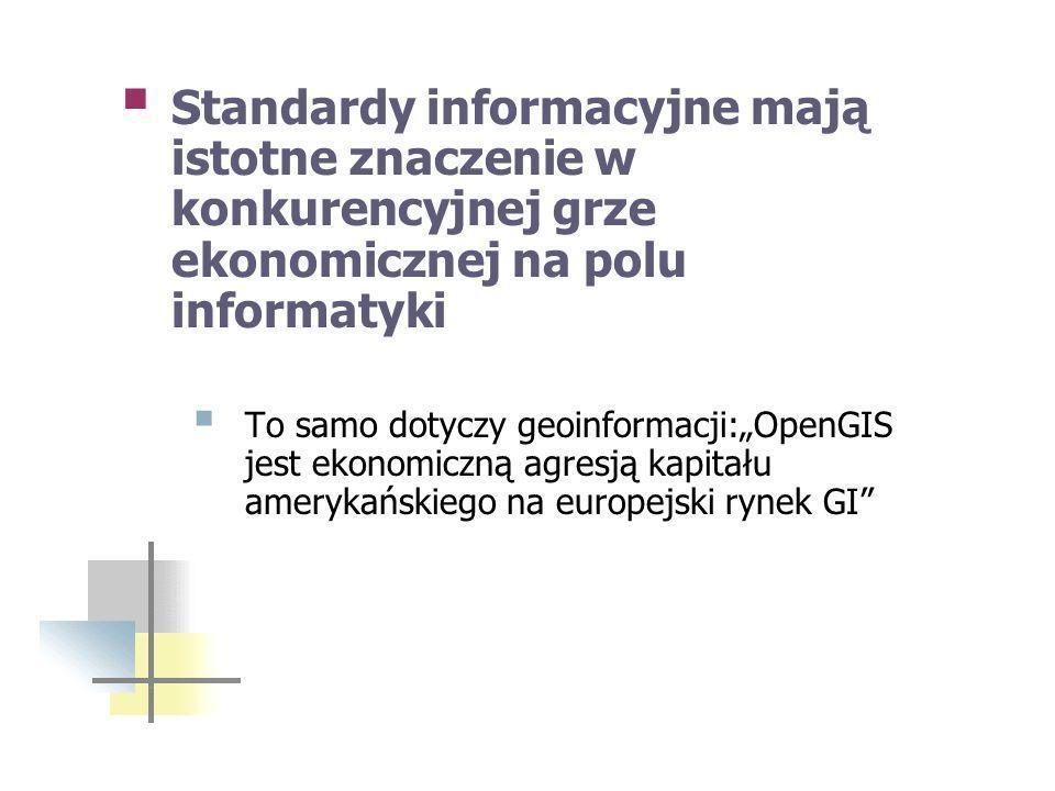 Standardy informacyjne mają istotne znaczenie w konkurencyjnej grze ekonomicznej na polu informatyki