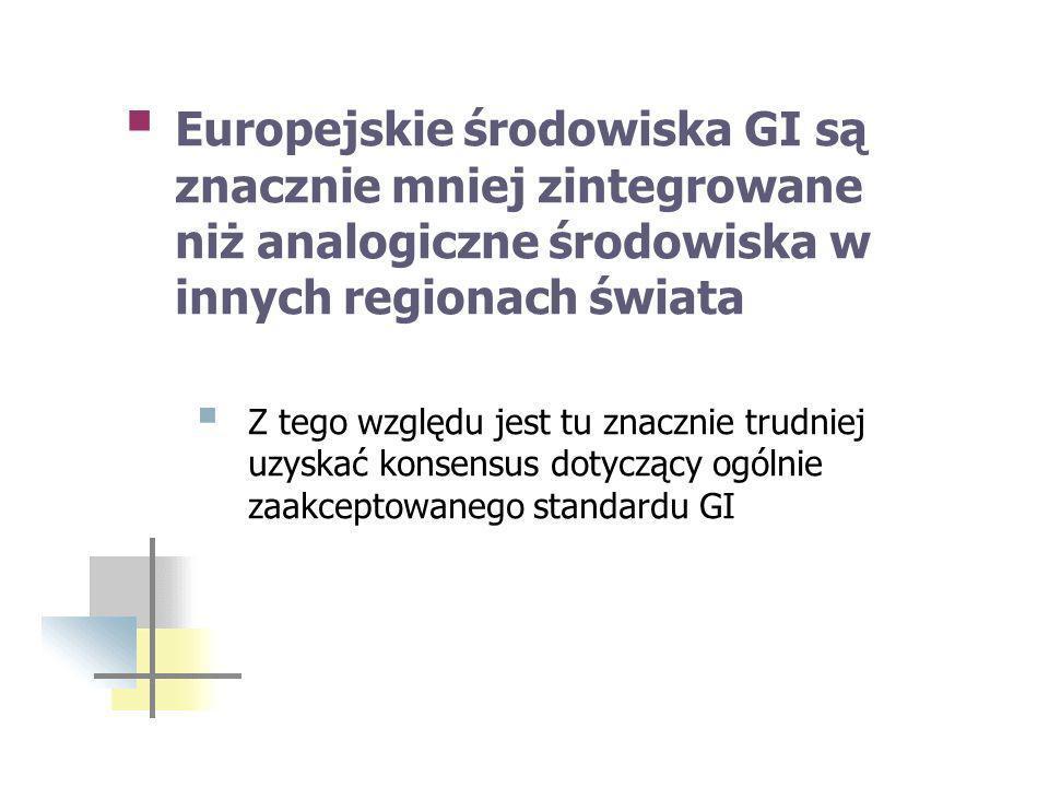 Europejskie środowiska GI są znacznie mniej zintegrowane niż analogiczne środowiska w innych regionach świata
