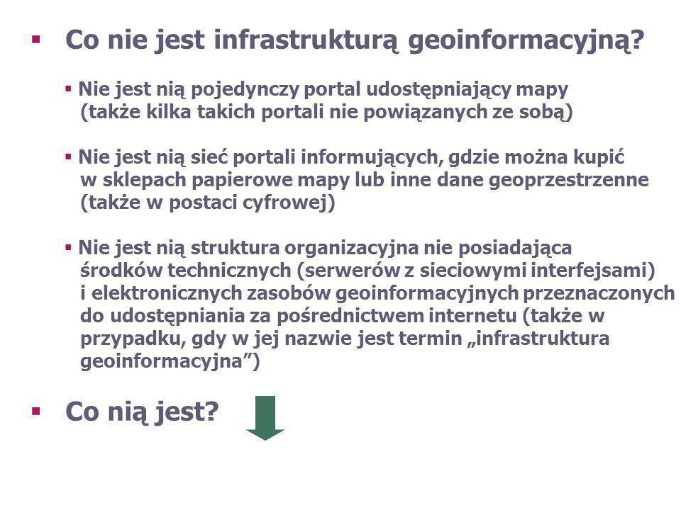 Co nie jest infrastrukturą geoinformacyjną
