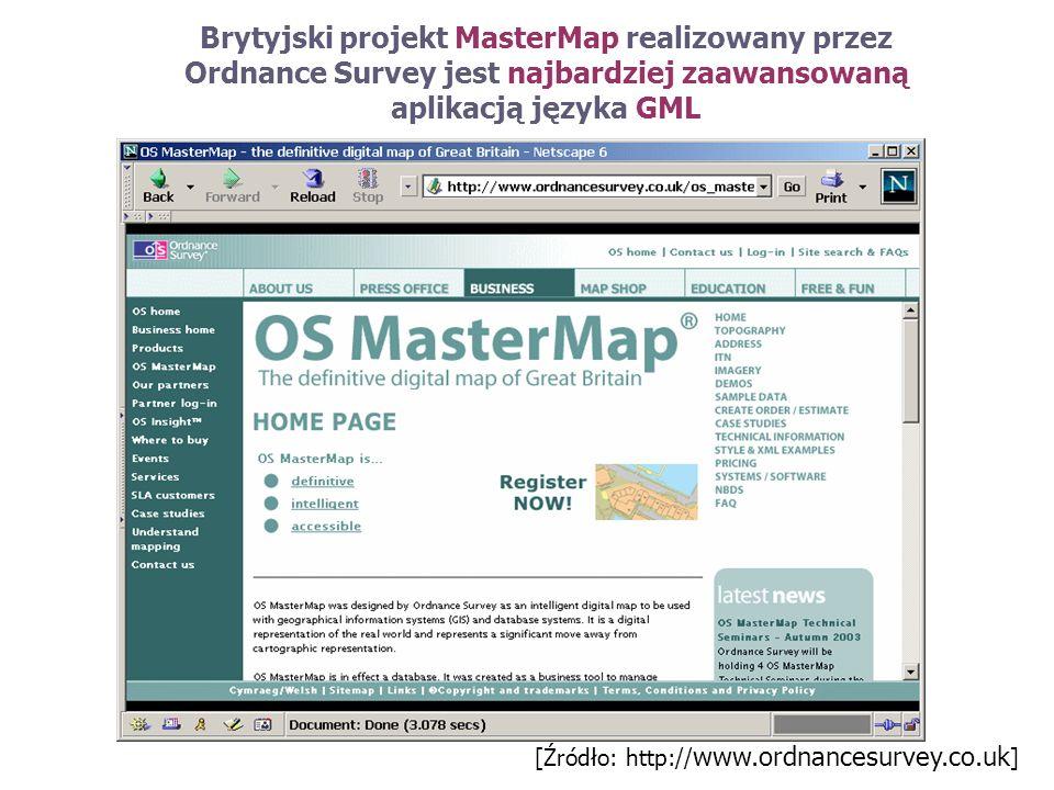 Brytyjski projekt MasterMap realizowany przez