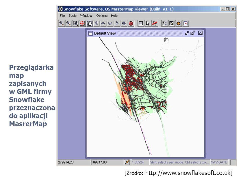 Przeglądarka map zapisanych w GML firmy Snowflake przeznaczona do aplikacji MasrerMap