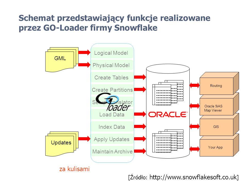 Schemat przedstawiający funkcje realizowane przez GO-Loader firmy Snowflake