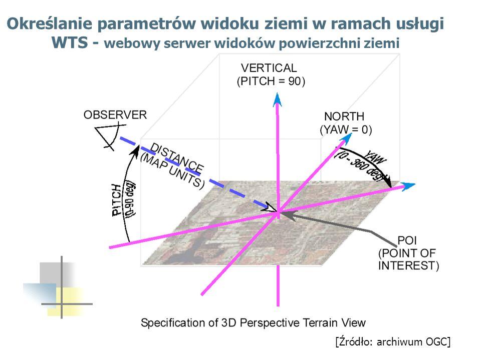 Określanie parametrów widoku ziemi w ramach usługi